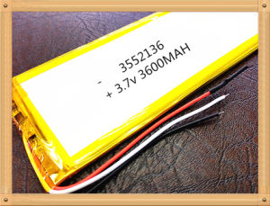 3552136 3.7 V Lithium Polymer Battery Tablet MID Panel pictures & photos