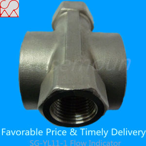 Threaded Sight Glass Water Flow Indicator with Impeller pictures & photos