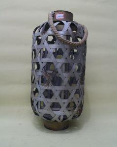 Metallic Paint Chinese Style Elegant Bamboo Weaving Rope Environmental Natural Big Lanterns