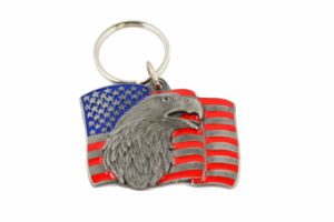 Wholesale Cheap Promotional Gift Fashion Custom Metal Flag Keychain pictures & photos