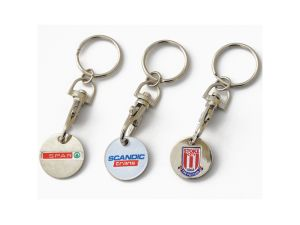Metal Trolley Coin Shopping Cart Promotional Gift Key Chain pictures & photos