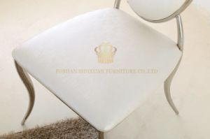 Modern Stylish Simple White Dining Chair with Comfortable Leather Seat Case pictures & photos