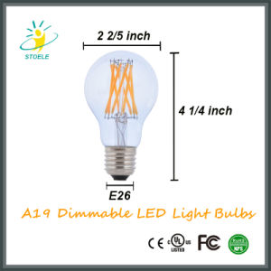 Energy Saving LED Bulb A19/A60 Neodymium Glass LED Filament Bulb pictures & photos