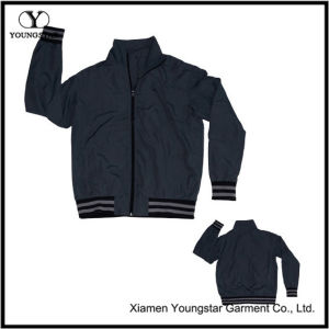 Dark Grey Black Microfiber Sports Sporty Sport Jacket for Men pictures & photos