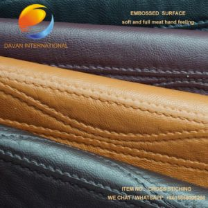 PU Garment Fabric in Stiching Design pictures & photos