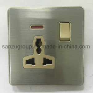 BS Style 13A 3 Pin Universal Socket with Neon pictures & photos