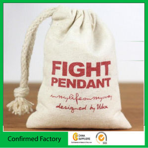 Customize Logo Natural Drawstring Cotton Bag pictures & photos
