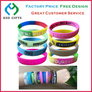 High Quality Promontional Customized Logo Rubber Hand Band/ Silicone Bracelet pictures & photos