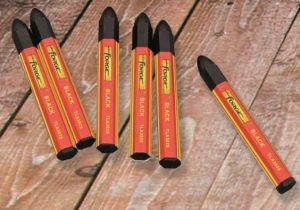 6PCS Non-Toxic Waterproof Marking Crayon Marking Pen Marker Black pictures & photos