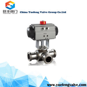 Pneumatic Clamp Type Ball Valve pictures & photos