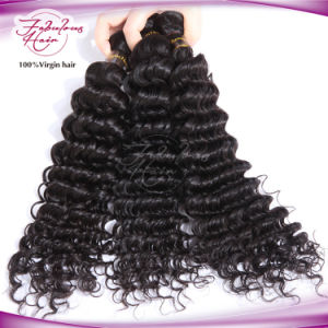 8A Grade Wholesael Human Hair Indian Deep Wave Hair pictures & photos
