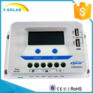 Epsolar 20A 12V/24V Solar Charging/Charge Controller Dual USB Vs2024au pictures & photos