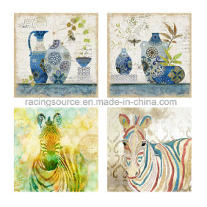 Animal Streched Hand-Painted Oil Canvas Painting for Home Decor pictures & photos