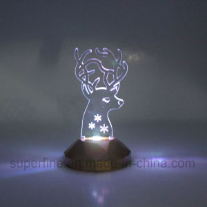 Elegant Safe Wholesale Electric Battery Operated Plastic Color Changing Birthday Acrylic LED Light pictures & photos
