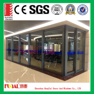 High Quality Double Glazed Aluminum Sliding Door pictures & photos