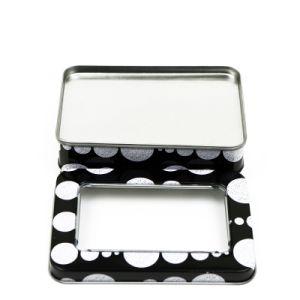 Rectangular Window Tin Box Gift Snacks Hinged Tin Boxes pictures & photos