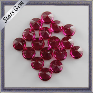 High Polished Synthetic Round Brilliant Cut Loose Ruby Gems Price for Royal Jewelry pictures & photos