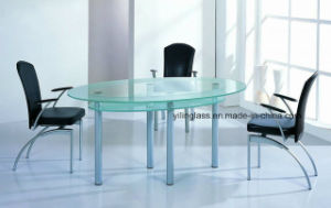 Acid Etched Tempered Dining Table Top Glass pictures & photos