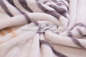 2017 Acrylic Printed Blanket / Raschel Blanket -2design pictures & photos
