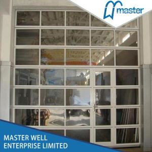 Garage Use Glass Door with Aluminum Frame/Commercial Shop Use Aluminum Glass Door pictures & photos