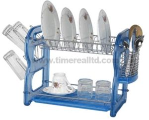 2 Layers Metal Wire Kitchen Dish Rack Plasic Board Tno. Dr16-Bbp pictures & photos