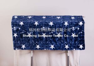 2017 Super Soft 100% Polyester Printed Sherpa Fleece Throw /Baby Blanket-Blue Star pictures & photos