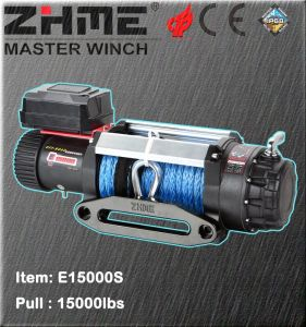 15000lbs Pull Electric Power Resource Winch with Synthetic Rope pictures & photos