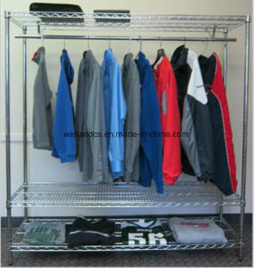 DIY Adjustable Chrome Metal Bedroom Portable Wardrobe for Home pictures & photos