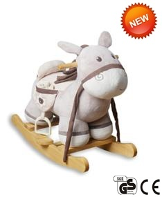 New Wooden Base Plush Toy Stuffed Rocking Hors Rocking Animal Ca-Ra05 pictures & photos