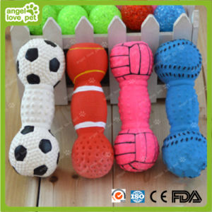Pet Vinyl Dumbbell Toys Pet Squeaky Product pictures & photos