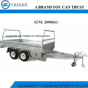2t Dual Axle Flat Top Trailer pictures & photos