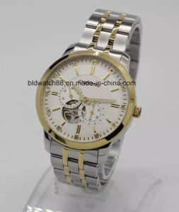 Two Tone Watch Gold Silver Stainless Steel Mechanical Watches Man pictures & photos