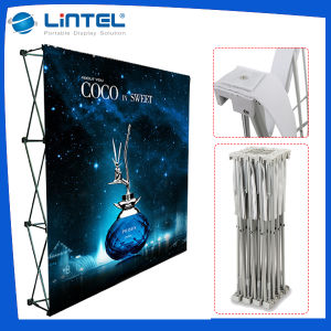 Exhibition Quick Fabric Pop up Banner Display Stand (LT-09D) pictures & photos