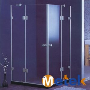 Factory Price Shower Tempered Glass Stainless Steel Shower Room Sliding Door pictures & photos