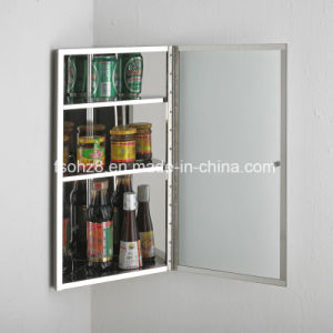 Wall Hung Stainless Steel Furniture Mirror Cabinet (7061) pictures & photos