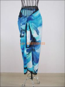 Polyester Chiffon Beach Scarf Blue pictures & photos