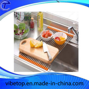 Kitchen Stainless Steel Draining Folding Shelf (KT-05) pictures & photos