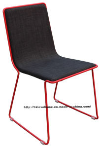 Modern Replica Metal Dining Restaurant Furniture Steel Fabric Chairs pictures & photos