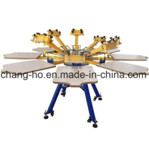 8 Color Manual Textile Screen Printer Machine pictures & photos