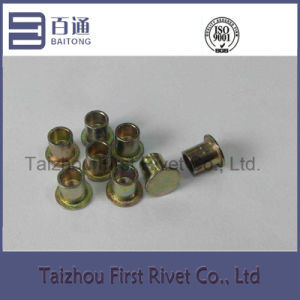 8X9.5mm Zinc Plated Flat Head Semi Tubular Steel Clutch Rivet