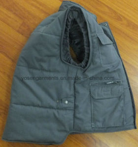 Winter Padded Padding Tc Polyester/Cotton Body Warmer Workwear Work Sleeveless Vest (BW15) pictures & photos