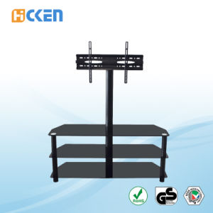 Made in China Glass and Metal MDF Corner LCD LED Modern TV Stand pictures & photos