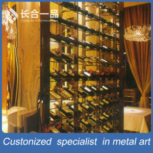 Factory Sale Silver Wine Multi-Layer display Rack for Suppermarke/Club pictures & photos