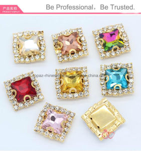 Square Garment Crystal Stone Jewelry Rhinestone for Sew on (SW-Square 10mm) pictures & photos