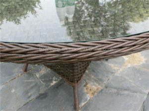 Round Wicker Dining Set for Garden pictures & photos