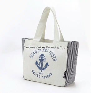 Eco Cotton Canvas Shopping Tote Bag for School, Canvas School Bag pictures & photos