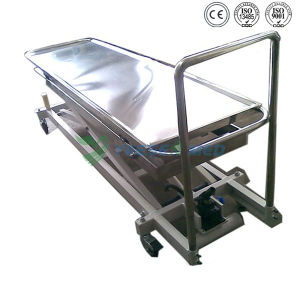 Mortuary Toom Stainless Steel Hydraulic Mortuary Lifter pictures & photos