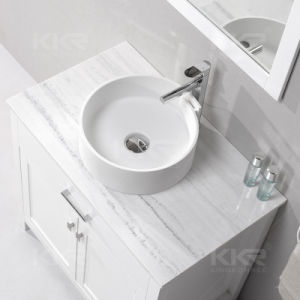 Matte Finished Resin Solid Surface Wash Hand Basin (V70615) pictures & photos