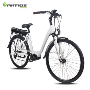 700c 350W City Woman Electric Bike with Crank Motor pictures & photos