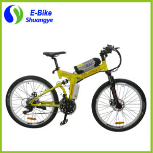 26 Inch Folding 21 Gears 36V Mountain Electric Bicycle pictures & photos